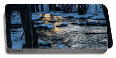 Big Hills Springs Under Snow And Ice, Big Hill Springs Provincia Portable Battery Charger