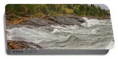 Big Waves In Autumn Portable Battery Charger