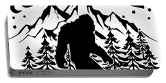 Bigfoot Saw Me But Nobody Believes Him Hipster Science Portable Battery Charger