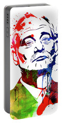 Bill Murray Watercolor Portable Battery Charger