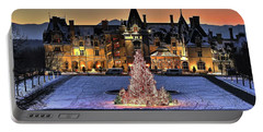 Biltmore Christmas Night All Covered In Snow Portable Battery Charger