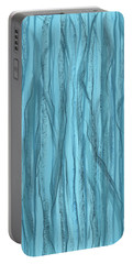 Birch Trees In Blue Light Portable Battery Charger