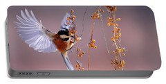 Bird Eating On The Fly Portable Battery Charger