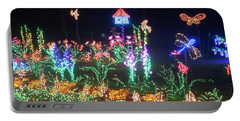 Birdhouse Garden Christmas Lights At Night Portable Battery Charger