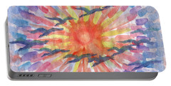 Portable Battery Charger featuring the painting Birds Abstraction by Dobrotsvet Art