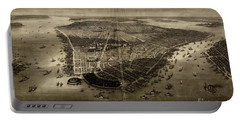 Bird's-eye View Of New York City 1851  Portable Battery Charger