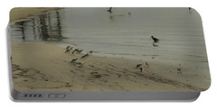 Birds On Beach Portable Battery Charger