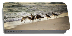 Portable Battery Charger featuring the photograph Birds On The Beach by Doug Camara