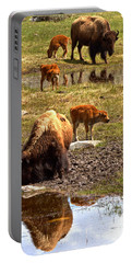 Bison Family Portrait T-shirt Portable Battery Charger