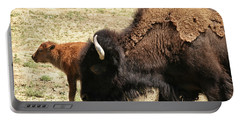 Bison In North Dakota Portable Battery Charger