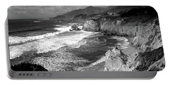 Black And White Big Sur Portable Battery Charger