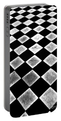 Black And White Floor Tile Portable Battery Charger