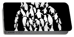 black and white for men or womens ocean Penguin science Portable Battery Charger