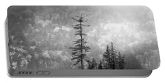 Portable Battery Charger featuring the photograph Black And White Moody Morning Moosehead Lake by Dan Sproul