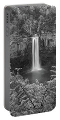 Portable Battery Charger featuring the photograph Black And White Taughannock Falls by Dan Sproul