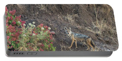 Portable Battery Charger featuring the photograph Black Backed Jackal by Alex Lapidus