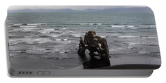 Black Beach And Hvitserkur Portable Battery Charger
