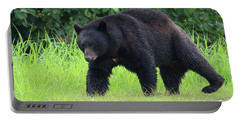 Black Bear Crossing Portable Battery Charger