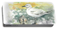 Black-billed Gull Family Portable Battery Charger
