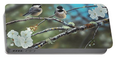 Black Capped Chickadees Portable Battery Charger
