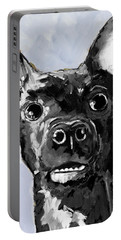 Black Chihuahua Dog Portrait  Portable Battery Charger