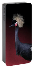 Portable Battery Charger featuring the photograph Black Crowned Crane Photographic Portrait by Debi Dalio