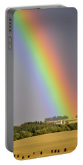 Portable Battery Charger featuring the photograph Black Gold At The End Of The Rainbow by Philip Rispin