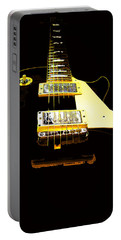 Black Guitar With Gold Accents Portable Battery Charger