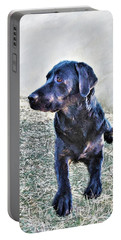 Black Labrador Retriever - Daisy Portable Battery Charger