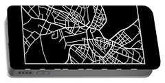 Black Map Of Havana Portable Battery Charger