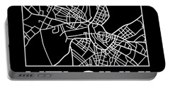 Black Map Of Helsinki Portable Battery Charger