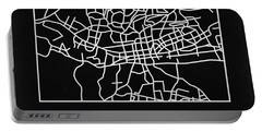Black Map Of Johannesburg Portable Battery Charger