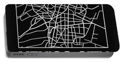 Black Map Of Mexico City Portable Battery Charger