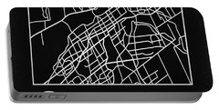 Black Map Of Ottawa Portable Battery Charger