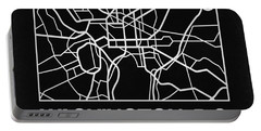 Black Map Of Washington, D.c. Portable Battery Charger