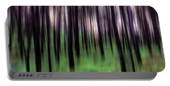 Black Pines In A Green Wood Portable Battery Charger