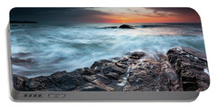 Black Sea Rocks Portable Battery Charger