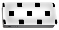 Black Squares On A White Background- Ddh574 Portable Battery Charger