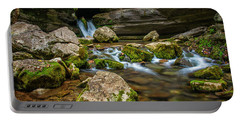 Portable Battery Charger featuring the photograph Blanchard Springs Headwater by Andy Crawford