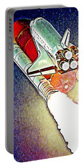 Portable Battery Charger featuring the digital art Blast Off To Mars by Pennie McCracken