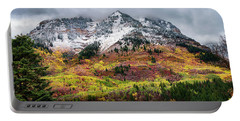 Portable Battery Charger featuring the photograph Blending Fall And  Winter by Michael Ash