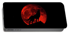 Blood Red Wolf Supermoon Eclipse 873l Portable Battery Charger