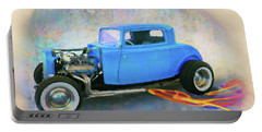 Blue 32 Ford Coupe Portable Battery Charger