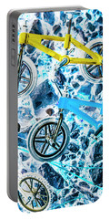 Blue Bike Background Portable Battery Charger