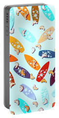 Blue Boarding Beach Portable Battery Charger