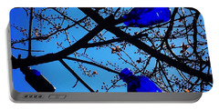 Blue Bottles In Tree Portable Battery Charger