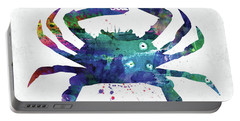 Blue Crab Watercolor Portable Battery Charger