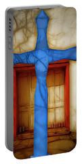 Blue Cross At Nuestra Senora De Luz Portable Battery Charger