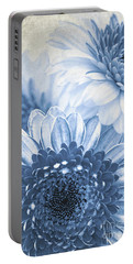 Blue Gerbera Portable Battery Charger