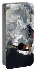 Portable Battery Charger featuring the painting Blue Grey by John Jr Gholson